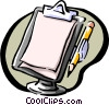 clipboard and pencil Vector Clipart picture