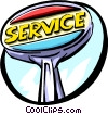 Vector Clipart picture  of a service station