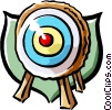 Vector Clipart illustration  of a target