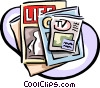Vector Clipart illustration  of a magazines