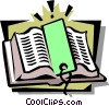 Vector Clipart graphic  of a book with bookmark