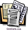 Vector Clipart image  of a newspapers