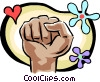 fist Vector Clipart picture