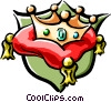 Vector Clip Art image  of a royalty