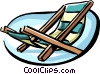 Lounge chair Vector Clip Art image