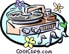 record player Vector Clipart illustration