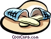 Vector Clipart graphic  of a slippers