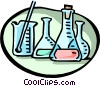 Vector Clipart picture  of a Science beakers