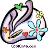 Vector Clipart graphic  of a weed