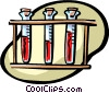 Vector Clip Art graphic  of a test tubes