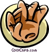 Vector Clipart picture  of a baseball glove