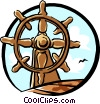 Vector Clipart image  of a ships steering