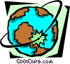 Vector Clip Art image  of a world