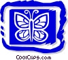 Vector Clipart graphic  of a butterfly