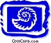 Vector Clip Art graphic  of a seashell