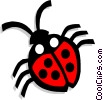 Vector Clipart picture  of a ladybug