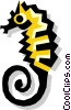 seahorse Vector Clipart illustration