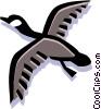Vector Clip Art graphic  of a bird