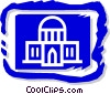 Vector Clip Art image  of a government building