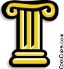 Ionic column Greek Vector Clip Art picture