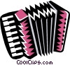 Vector Clip Art graphic  of a squeeze-box accordion