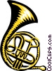 French horn Vector Clip Art graphic