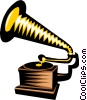 Vector Clip Art graphic  of a gramophone