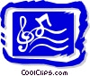 Vector Clipart image  of a musical symbol