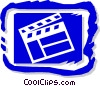 Vector Clipart illustration  of a clapboard symbol