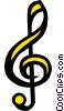 treble clef Vector Clipart picture