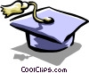 Vector Clip Art image  of a Mortarboard