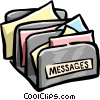 message sorter Vector Clipart illustration