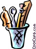 Vector Clipart image  of a office supplies