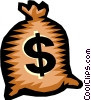 bag of money Vector Clipart illustration