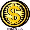 coins Vector Clip Art graphic