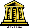 Vector Clipart picture  of a bank