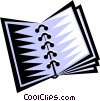 Vector Clip Art image  of a notebook