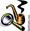 pipe and magnifying glass Vector Clipart picture