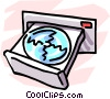 Vector Clipart illustration  of a CD-ROM drive
