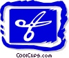 Vector Clipart image  of a scissors