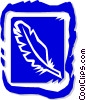 Vector Clip Art graphic  of a feather