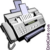 fax machine Vector Clipart illustration