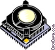 Vector Clip Art graphic  of a microprocessor chip