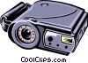 Vector Clipart image  of a digital camera