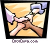 Vector Clip Art image  of a joining hands