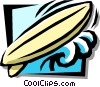 Vector Clip Art image  of a surfboard