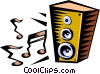 Vector Clipart picture  of a stereo speaker