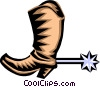 cowboy boot Vector Clip Art picture
