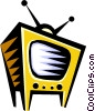 Vector Clipart illustration  of a television