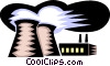 Vector Clip Art picture  of a smoke stack